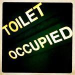 toilet on plane